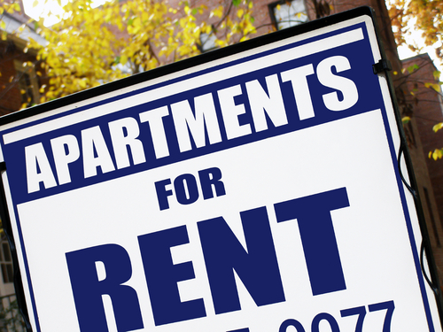 Apartments for Rent sign – Buying a Rental Property