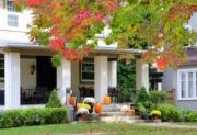 Beautiful home exterior, fall leaves and decor – How to sell an investment property