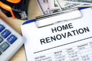 home renovation budget, calculator, cash