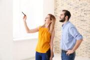 homebuyers walk through empty house, walkthrough checklist