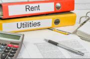 landlord notebooks, calculator, rental agreement