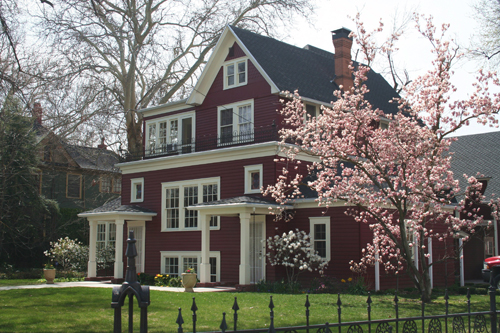 Old house with blossoming tree in Boise, Idaho – Boise, ID is affordable housing mecca