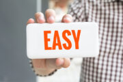 person holding easy sign, hard money loan application
