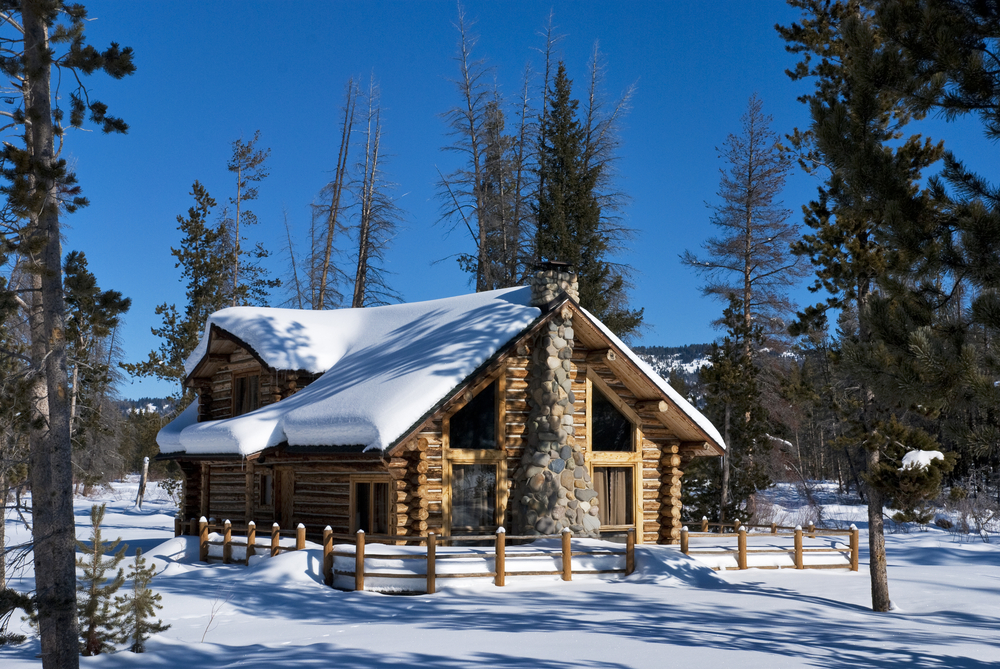 winter cabin, Idaho